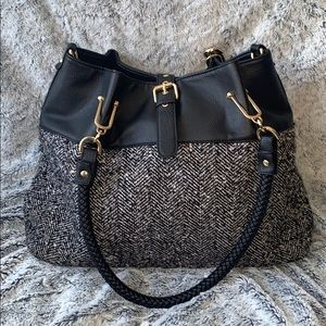 Black River Tweed and leather Bag Purse